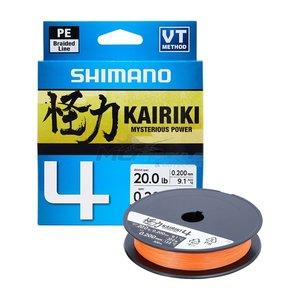 Shimano Kairiki 4 Pe Braid Hi Vis Orange 150 meter