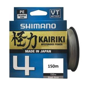 Shimano Kairiki 4 Pe Braid Steel Grey 150 meter